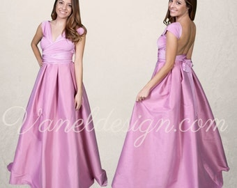 Bridesmaid Dress, Convertible Bridesmaid Dress Custom Made in 50 Colors, Dusty Rose