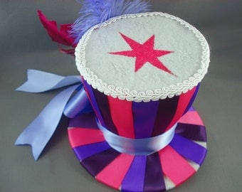 Twilight Sparkle - MLP Mini Top Hat My Little Pony Cosplay Top Hat Burlesque Top Hat Striped Top Hat Costume Top Hat SALE