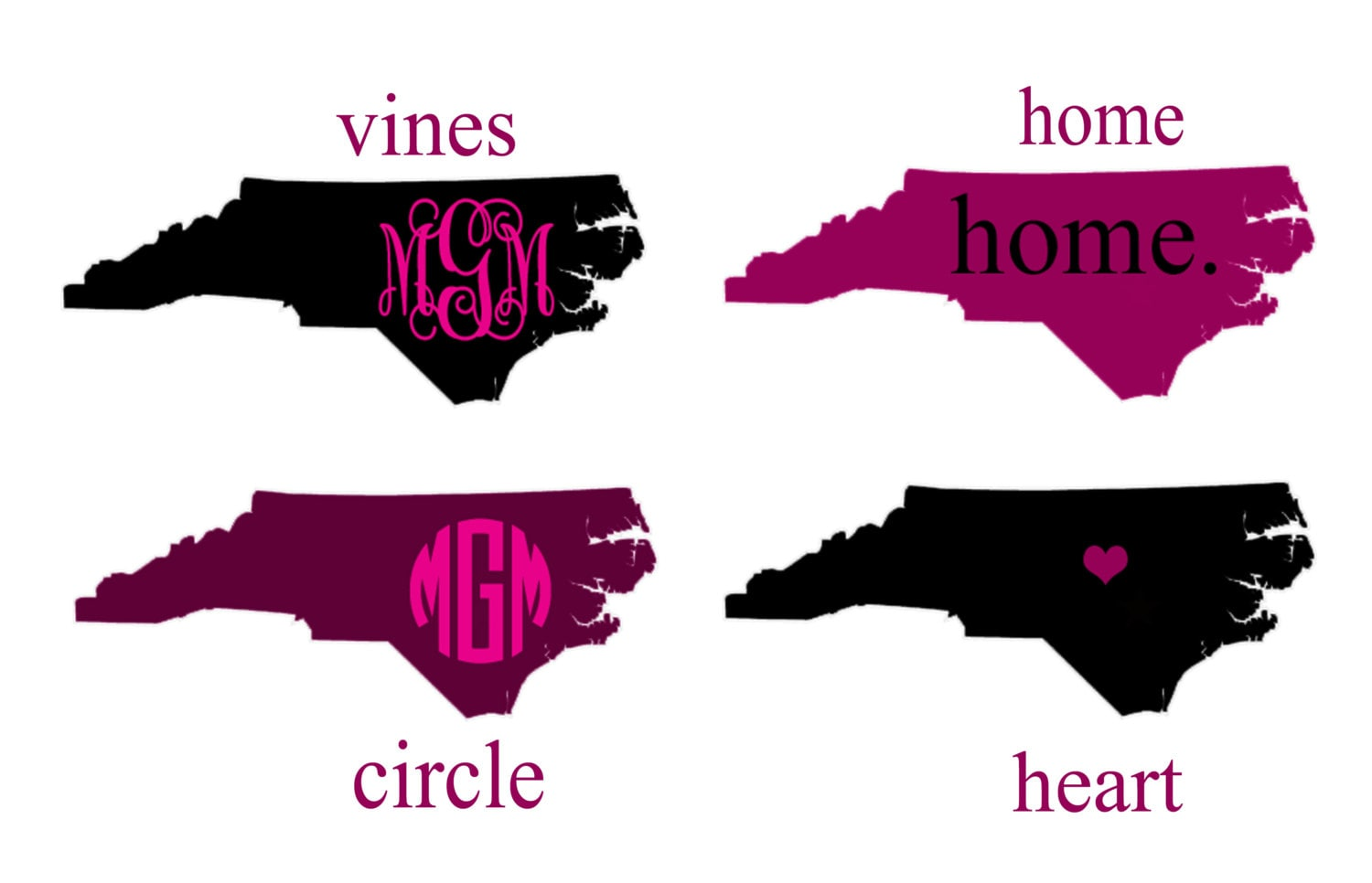 North Carolina State Decal Home By Creativelyyours2010 On Etsy
