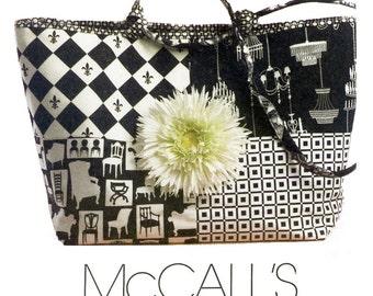 Tote Bag Pattern Uncut McCalls M5598 Shoulder Bags, Handbags, Purses, Fabric Bags, Market Bags, Knitting Bags, Totes Womens Sewing Patterns
