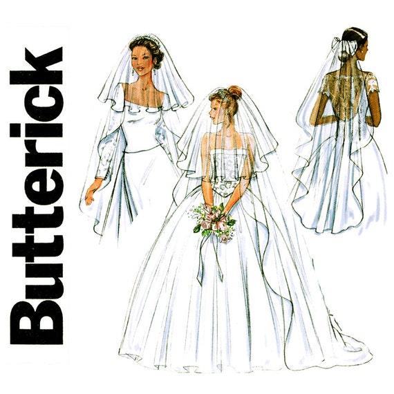 Wedding Veils And Headpieces Patterns: Bridal Veils Pattern Uncut Butterick B4487 Wedding Headpiece
