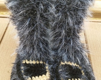 Crochet Boots Pattern------ FABULOUS FUR MUKLUKS--------Style 2-------make stunning one of a kind fur boots----turn them into street boots