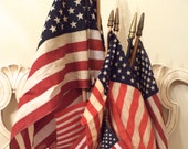 Vintage American Flags - Lot of 13 Parade or Classroom Flags - Mixed Sizes