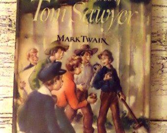 Vintage The Adventures of Tom Sawyer Book - Illustrated Junior Library - 1946 - Mark Twain