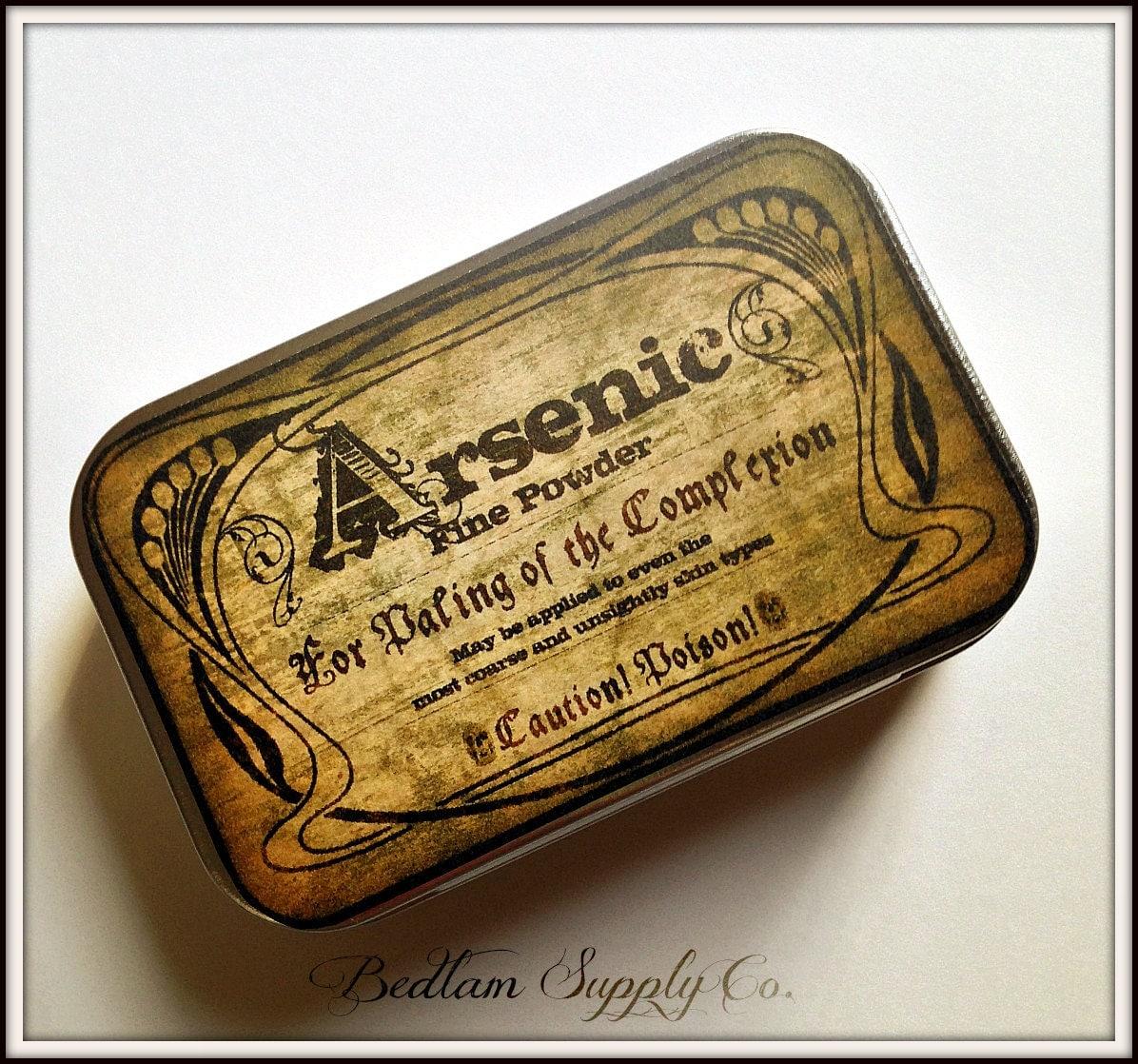 Arsenic - large pillbox tin / stash case steampunk buy now online