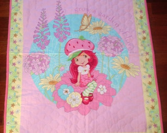 Strawberry Garden Baby Blanket