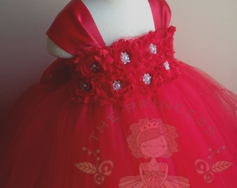 red flower girl dress, flower girl dress red, red tutu dress, red tulle dress, red girls dress, girls dresses, girls birthday outfit