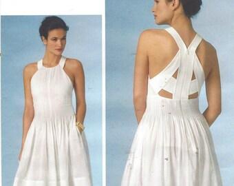 Rebecca Taylor Womens Summer Dress Vogue Pattern V1446 Size 12 14 16 Bust 34 36 38 UnCut Vogue American Designer Pattern