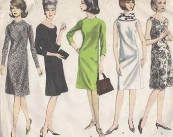 Bust 34-1960's Misses' Dress Vogue 1415 Size 14