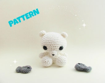 Polar Bear Pattern / Christmas Pattern / Christmas Gift / Black Friday / Baby Bear Pattern / Crochet Bear Pattern / Amigurumi Animal Pattern