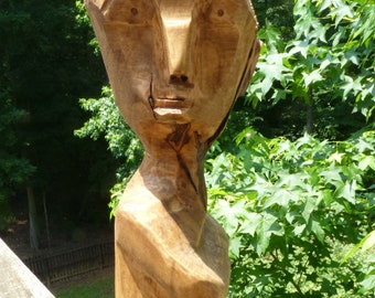 John Lynch, Funky Maple Dude Wood Carving, He has an Attitude , Wood Art Sculpture ,b1