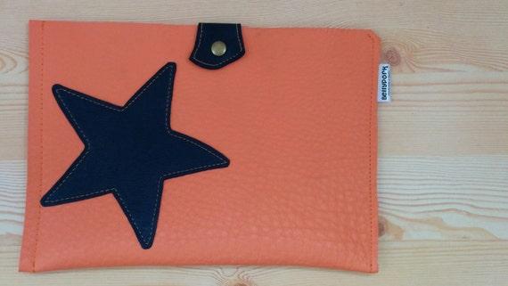 iPad mini case, Leather case, iPad Mini, Table case, Leather ipad case, Tablet cover, Star case, Orange case, star leather case,iPad case