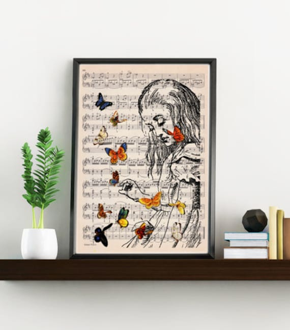 Sale Alice In Wonderland Wall Art Print Wall Art Home Decor Alice