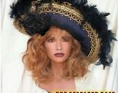 Rich Royal Blue Bombshell ~ The Scarlett Rose Dream Hat