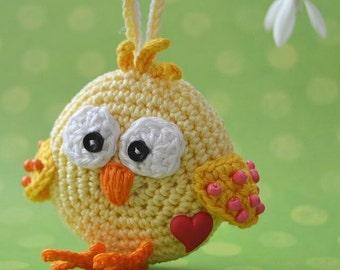 Crochet pattern - Chicken ornament - Eastern Decoration / Digital pattern / Ornament /DIY