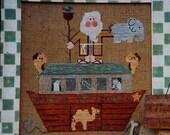 CLEARANCE Fanci That Primitive NOAHS ARK Folk Art - Counted Cross Stitch Pattern Chart