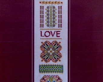 Turquoise Graphics & Designs HEART'S DESIRE Love Sampler - Counted Cross Stitch Pattern Chart