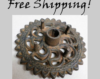 Candle Holder Cast Iron Candle Stick Holder FREE SHIPPING!