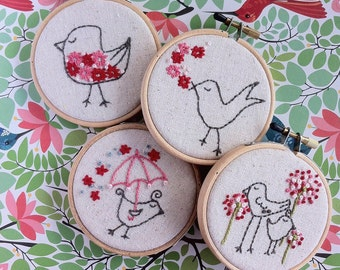 embroidery pattern // Mega Bird embroidery pattern - instant digital download