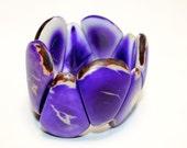 Purple Tagua-Drop Bracelet- Eco-friendly Jewelry- Boho