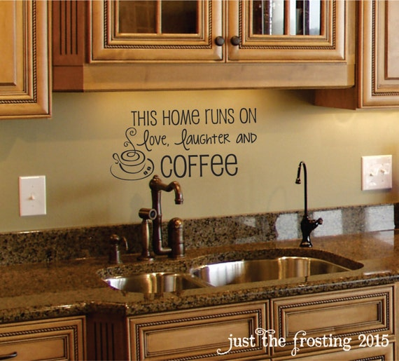 Kitchen Wall Treatment Ideas: Coffee Wall Decal Coffee Decor Kitchen Wall Decal