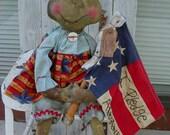 "Primitive Frog E pattern ""Americana Frog"""