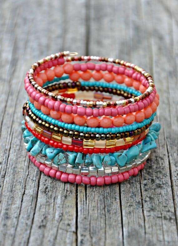 Multi Layer Western Boho Wrap Bracelet