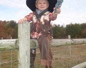 Sewing Pattern Cowboy Chaps, sizes 12 mo to 3T, beginner sewing pattern, western wear, quick sew pattern