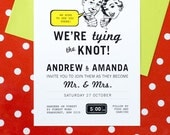 50s Retro Printable Wedding Invitation No. 2