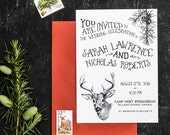 Woodland Animal Wedding Invitation Printable