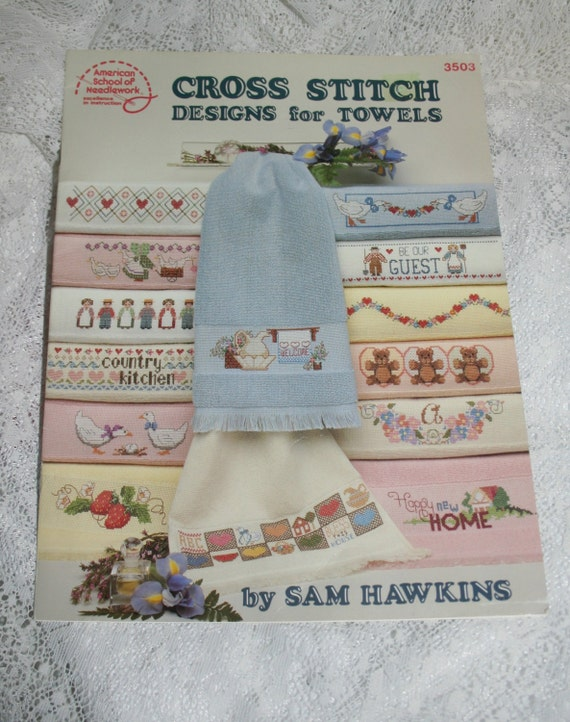 Items similar to cross stitch designs for towels cross for Cross stitch kitchen designs