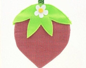 StrawBerry Purse little girls purse novelty purse May Day Easter basket birthday gift STR012
