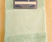 Seafoam Green Stitchable Velour Guest Towel