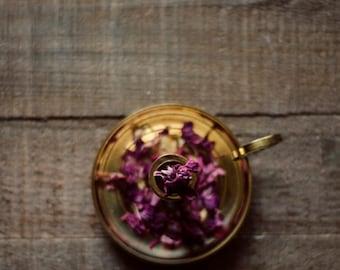 Still life photo, purple flower art, rustic home decor, brown decor, romantic art, fine art photo, gold and purple,bedroom decor