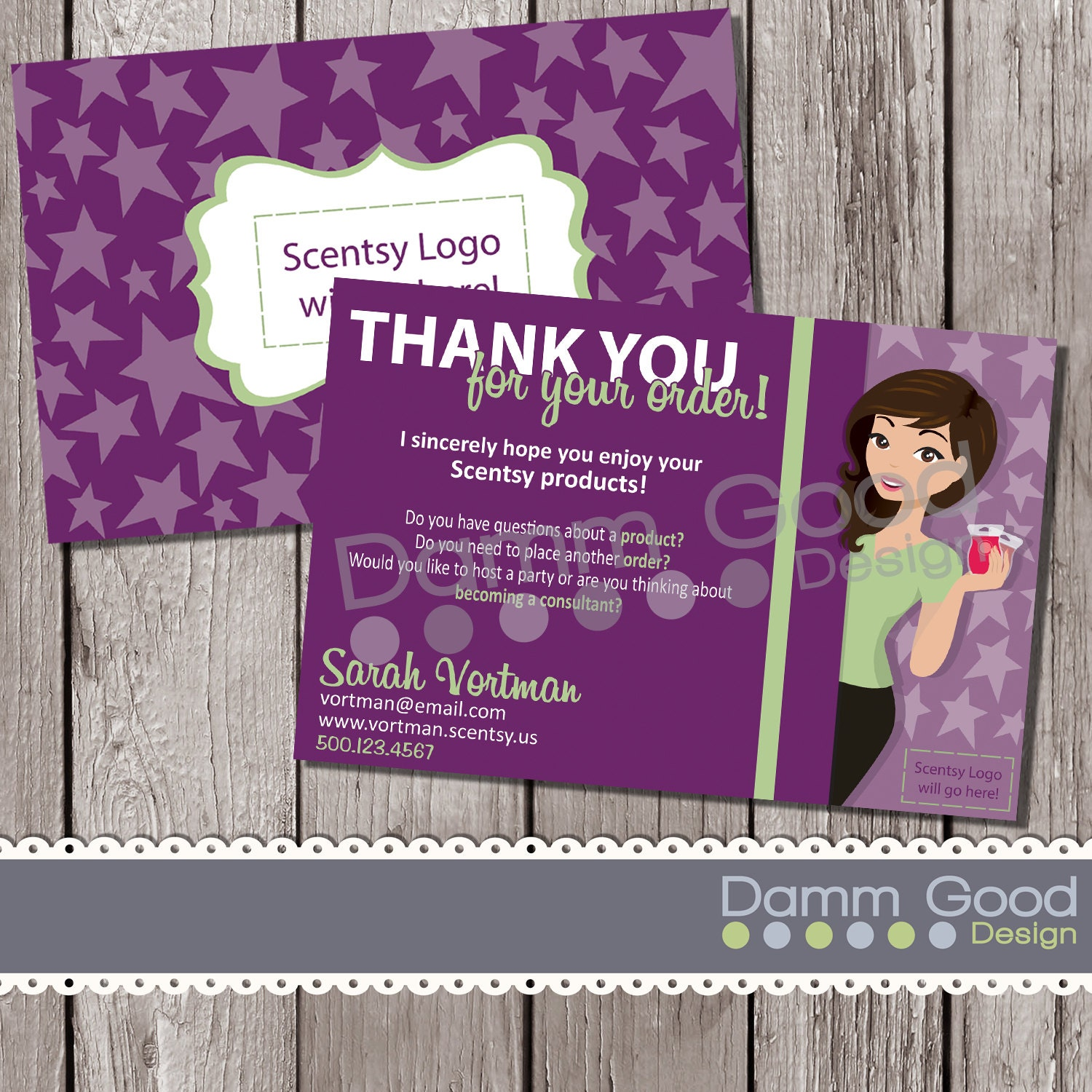 Scentsy inspired Thank you card digital thank by