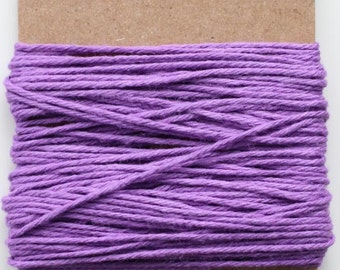 SALE 100% Cotton Twine Lilac Bakers Twine The Twinery 15 Yards Solid Lilac Purple Twine Bundle