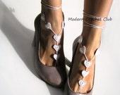Foot Jewelry- Beach Wedding Sandals- Barefoot Sandals- Footless Sandals- Barefoot Wedding Sandals- Bridesmaids Gift- Boho Valentines gift