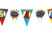 "Superhero-Themed ""It's A Boy"" Printable Banner"