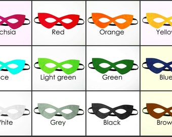 15 felt Masks party pack - Photo booth props Wedding Birthday party favors - for kids teens adults boys girls - Superhero dress up play