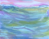 Oceans View Print, 6 x 8 Pink or Blue