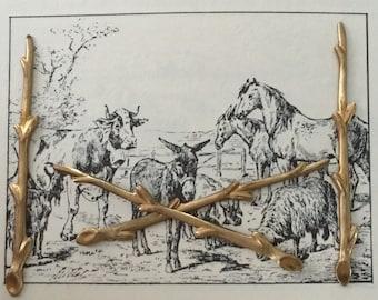 Timber Log Branch (4 pc)