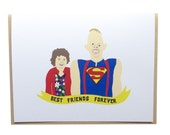 The Goonies, Sloth and Chunk, The Goonies card, Goonies greeting card