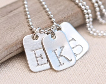 Personalized Monogram Mother's Necklace Personalized Initial Necklace Personalized Mother's Gift Custom Women's Jewelry, large initial charm