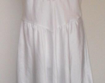 Sara Beth Vintage Nightgown Negligee White Satin Wedding Bridal