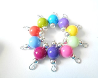You Select Opaque Colored Dangle Beads