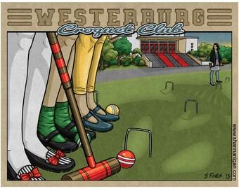 Westerburg Croquet Club - 11x14 Giclee Print