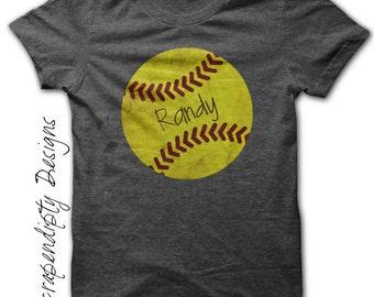 Iron on Softball Shirt PDF - Sports Iron on Transfer / Custom Softball Dad Shirt / Softball Girls Tshirt / Sports Dad Mom Clothing Tee IT492