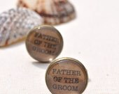 Father of the Groom Cufflinks Vintage Style Font