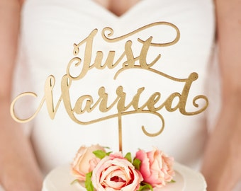 Wedding Cake Topper - Just Married - Soirée Collection