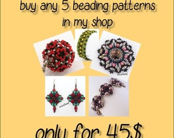 Special Offer - 5 patterns for 40USD